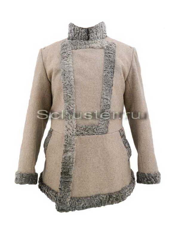 Bekesha (fur is gray / gray cloth greatcoat) (Бекеша) M1-038-U
