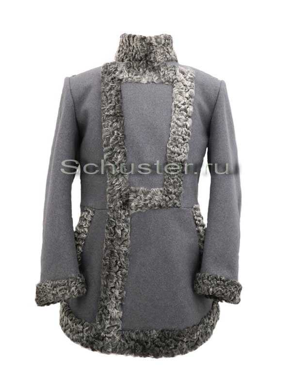 Bekesha (fur gray / cloth gray) (Бекеша) M1-026-U