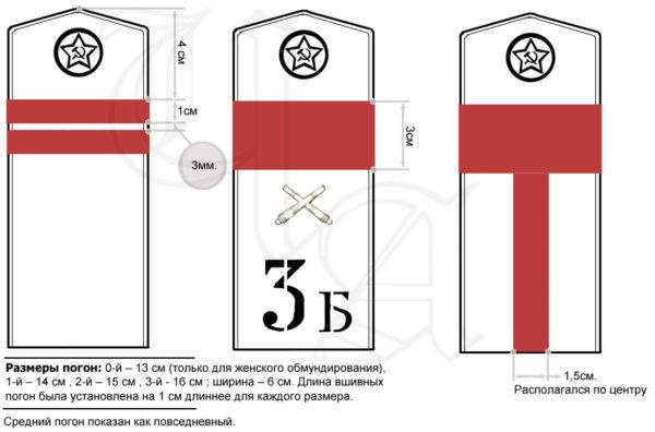 Производство и продажа Погоны полевые младшего командного состава обр.1943 г.(ефрейтор) M3-057-Z с доставкой по всему миру