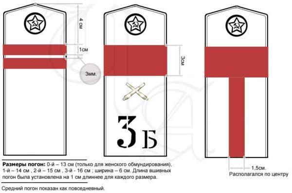 Производство и продажа Погоны полевые младшего командного состава обр.1943 г.(сержант) M3-146-Z с доставкой по всему миру