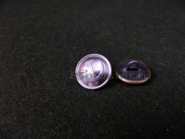 Button on the shoulder straps and buttonholes NKVD M1943 (white) (Пуговица на погоны и петлицы личного состава НКВД обр. 1943 г. (белая)) M3-061-F