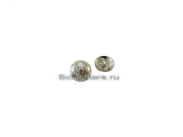 Производство и продажа Пуговицы малые для крепления подбородочного ремешка на фуражке (серебро) M1-009-F с доставкой по всему миру