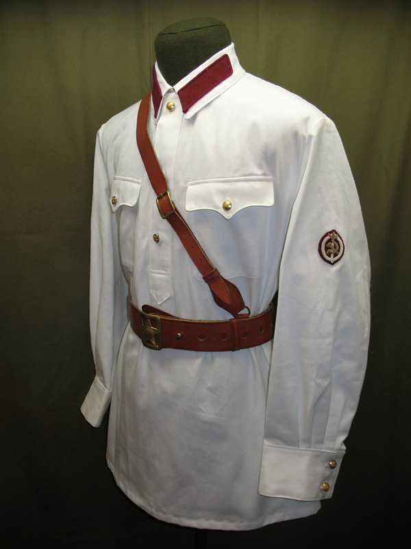 Производство и продажа Рубаха летняя белая для комначсостава обр.1937 г.(НКВД) M3-029-U с доставкой по всему миру