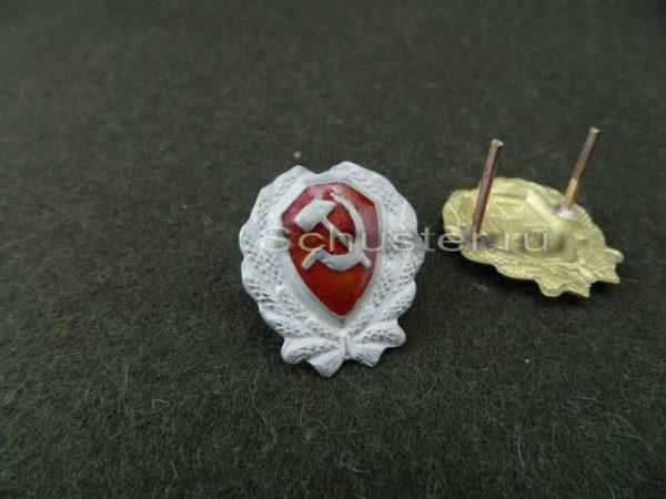 Cockade ordinary structure militia M 1923 (Значек на головные уборы младшего начсостава РКМ обр. 1923 г. ) M3-052-F