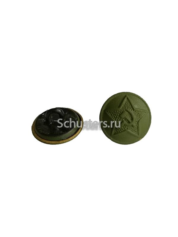 Button (khaki) on the shoulder straps and collar tabs M1943 (18 mm) (Пуговица (цвет хаки) форменная для погон и петлиц личного состава обр. 1943 г. ) M3-011-Fa